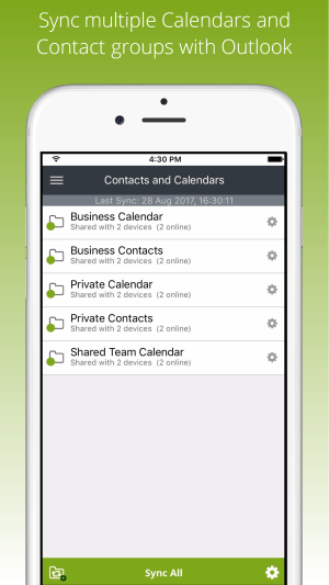 Sync Files, Outlook Contacts and Calendar with iPhone or